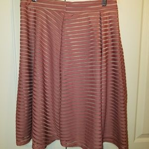 Women's XL mauve color Aline skirt, NWOT